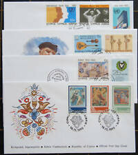 CYPRUS 1985 COMPLETE YEAR SETS (EX DEF) FDC (4 COVERS)