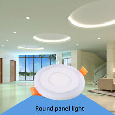 3+3W 6+3W 12+6W Aluminium Board Round Shape LED Panel Lamp Light For Bedroom XD
