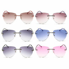 Trendy Style Women Fashionable Frameless Outdoor Travel Sunglasses Easy Match XD