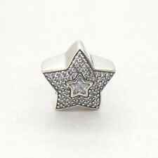 Genuine Authentic S925 Sterling Silver Wishing Star CZ Bead Charm