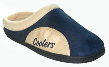 Coolers Mens Slippers - Slip On Clog / Mule Style - Navy , Cream