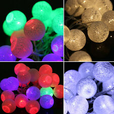 10/20 LED Cotton Ball LED String Lights Party Wedding Christmas Decor Lights NEW