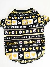 Pittsburgh Steelers Logo Patterned Dog Shirt NFL Football Official Pet Product