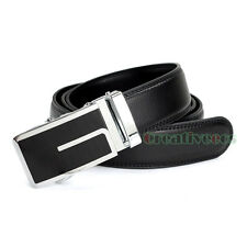 Men's Dress Luxury Genuine Leather Adjustable Waist Strap Belt Auto Lock Buckle