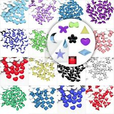 1000pcs Acrylic Crystal Flatback Rhinestones Nail Art Phone Decor Heart Flower