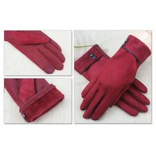 US Outdoor Warm Women's New Screentouch Suede Cold Weather Gloves Mittens Free