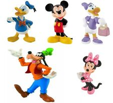 Disney Mickey Mouse 5 Miniatures Cake Toppers/Toy Figure Bullyland Official New