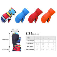 Kids Winter Ski Snow Gloves Waterproof Sport Breathable Thermal Warm Mittens