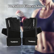 Unisex Weight Lifting Fitness Gloves with Wrist Wrap Anti-slip Grip Design T2Z7