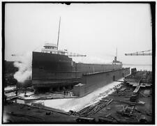 Steamer William P Snyder,freighter,cargo ships,boats,piers,Ecorse,Michigan,1906