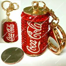 Rhinestone Crystal Fun Coke Can Handbag Purse Charms Keychains Accessories lot