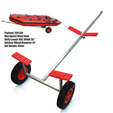 """Seamax Portable Boat Hand Dolly Set with 16"""" Pneumatized Wheels (New Version)"""