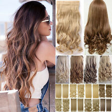 Long Sexy Full Head Clip in Natural Hair Extensions Fake hairpiece For Human Trd