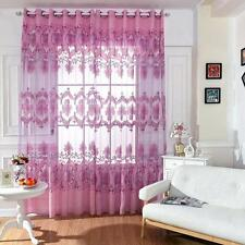Modern Doors Window Floral Tulle Voile Curtain Drapes Panels Sheer Scarf Valance