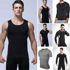 Mens Workout Short/Long Sleeve Fitness Athletic Gym Sports T-shirt Tee Tank Tops