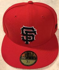 San Francisco  GIANTS RED/BLACK New Era 59FIFTY Fitted Caps MLB On Field Hats