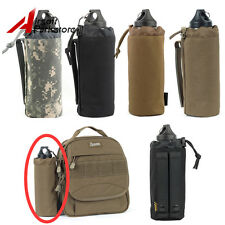 ROGISI Tactical Airsoft 1000D MOLLE Open Top Water Bottle Pouch Bag Hunting Bk