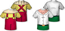 Family Guy Stewie Peter Griffin Costume Sublimation Front and Back Print Shirt