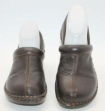 Thom McAn Women's Erin Brown Leather Slip On Casual Clogs Size 7 W Shoes