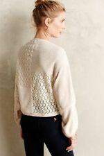 ANTHROPOLOGIE Angel of the North Patched Lace Metallic Shrug Sweater NwT  M/L