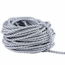 3mm Braided Leather Cords Round Wire for Necklace Bracelet Jewelry Making 20M