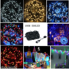 10M 500 LEDs Christmas String Fairy Lights Indoor Outdoor Xmas Tree Party Lamp