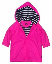 Captain Corsaire Childrens Nautical Raincoat - Bright Pink - Stripy Lining
