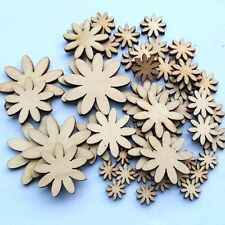 50 Pcs Wood Sewing Buttons Scrapbooking Sewing Butterfly Flower Heart Shape