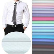 Fabric Cotton Polyester Stripe Twill for Shirt Craft Streak Uniform Cloth Plain