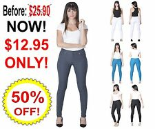 Women's Sexy Jeggings Pants Seamless Leggings Skinny Denim Tight Jeans Jeggings