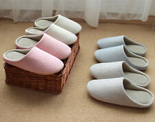 Unisex Womens Mens Soft Indoor Floor Slippers Cotton Slippers Anti Slip Shoes