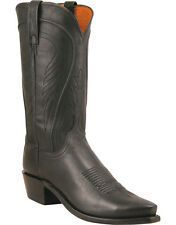 MEN'S LUCCHESE BLACK RANCH HAND WESTERN BOOTS N1597.54 MADE IN USA!