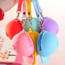 Hat silicone zero wallet  1pcs bag change coin Candy color novelty coin wallets