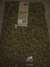 LEVIS Slim Straight Cargo I Brown Camo Stretch Mens Pants Sizes 34 36 New $68