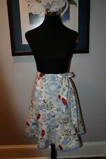 """Hostess """"Blue & White Wares"""" flounced half apron with bottom band (sm/med) NEW!"""