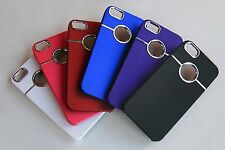 3pcs Deluxe With chrome Rubberized Snap-on Hard Back Cover Case for iPhone 5 SE
