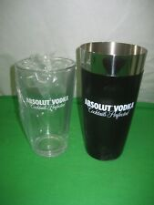 Co-Rect Absolute Vodka Cocktails Perfected Stainless Steel Shaker Mixer & Glass