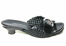 PONS QUINTANA sandal aperto leather twisted black