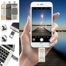 3 in 1 USB Memory Stick i-Flash Drive U Disk Pendrive OTG Android/IOS iPhone PC