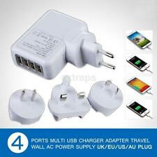 2.1A 4 Port USB Portable Home/Travel Wall Charger AC Adapter for Mobile Phone