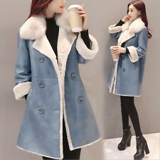Fashion Ladies Womens Winter Synthetic Leather Jacket  Warm Thicken Parka Coat