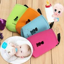 Baby Infant Feeding Milk Bottle Pouch Cover Holder Insulated Warmer Rim Bag