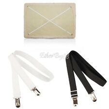 2x SHEET GRIPPERS STRAPS FASTENERS HOLD GRIPS ELASTIC BRACE CHROME CLIPS GRIPPER