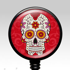 Nurse ID Badge - ID Holder Clip Retractable Name Badge Reel - Day of the Dead 4