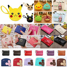 Womens Girls Cartoon Coin Pocket Purse Wallet Small Bag Case Handbag Pouch Gifts