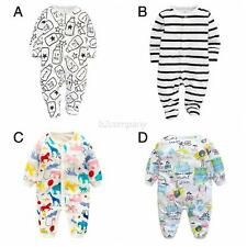 Baby Toddler Boy Girl Long Sleeve Romper Jumpsuit Bodysuit Cotton Clothes Outfit