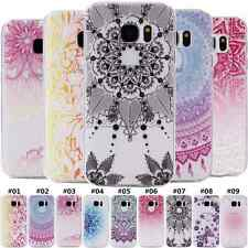 Retro Luxury Silicone Back Rubber Soft Skin Case Patterned TPU Cover For Samsung