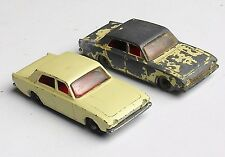 """Lesney""  Ford ""Corsairs"" 1/64. 2 ea. Vintage English Diecast Toys"