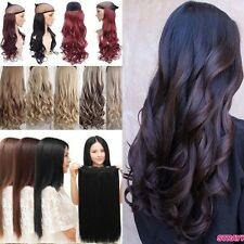 """Hot Real Thick Clip In Hair Extensions Long Curly 18-30"""" Brown Red Full Head Ty1"""