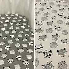 Grey or white fox bassinet, moses, Boori basket fitted sheet - 100% cotton